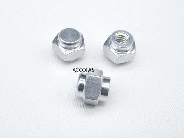 5 Angles aluminum nuts