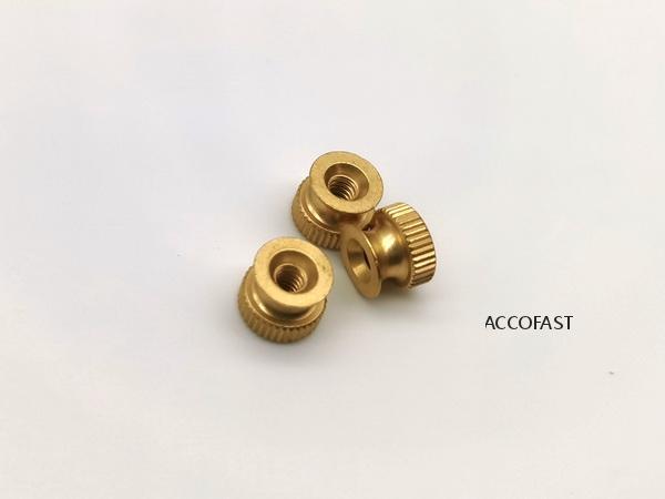 Brass thumb nuts