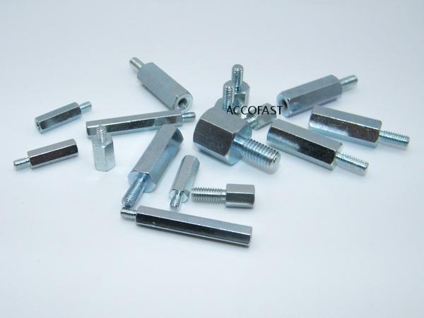 Steel standoff fasteners